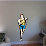 Track and Field Wall Decal - Vinyl Sticker - Car Sticker - Die Cut Sticker - SMcolor020
