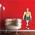 Track and Field Wall Decal - Vinyl Sticker - Car Sticker - Die Cut Sticker - SMcolor021