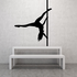 Nude Pole Dancer Spinning Upside Down Decal