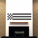 Racing Long Flag Flags Wall Decal - Vinyl Decal - Car Decal - 003
