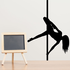 Nude Pole Dancer Leg Spin Decal