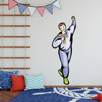 Track and Field Wall Decal - Vinyl Sticker - Car Sticker - Die Cut Sticker - SMcolor024