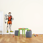 Track and Field Wall Decal - Vinyl Sticker - Car Sticker - Die Cut Sticker - SMcolor028