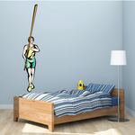 Track and Field Wall Decal - Vinyl Sticker - Car Sticker - Die Cut Sticker - SMcolor029