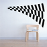 Racing Checkers Flags Wall Decal - Vinyl Decal - Car Decal - 015