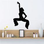 Dancer with Furry Boots Silhouette Decal