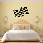 Checkered Flag Wall Decal - Vinyl Decal - Car Decal - CF08005