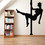 Pole Dancer in Cowboy Hat Decal