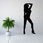 Woman in Heels Silhouette Decal
