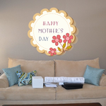 Happy Mothers Day Groovy Flower Sticker