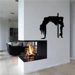 Pole Dancer with Arched Back Decal