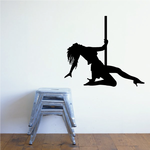 Pole Dancer Kneeling Decal