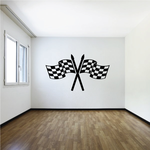 Checkered Flag Wall Decal - Vinyl Decal - Car Decal - CF08019