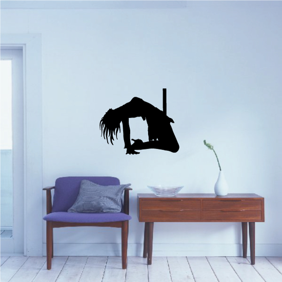 Pole Dancer Arching Back Decal