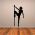 Nude Pole Dancer with Knee on Pole Decal