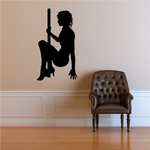 Nude Pole Dancer Getting Up Decal