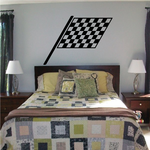 Checkered Flag Wall Decal - Vinyl Decal - Car Decal - CF08025