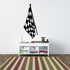 Checkered Flag Wall Decal - Vinyl Decal - Car Decal - CF08026
