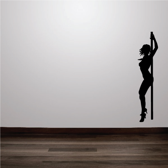 Nude Pole Dancer in Heels Decal