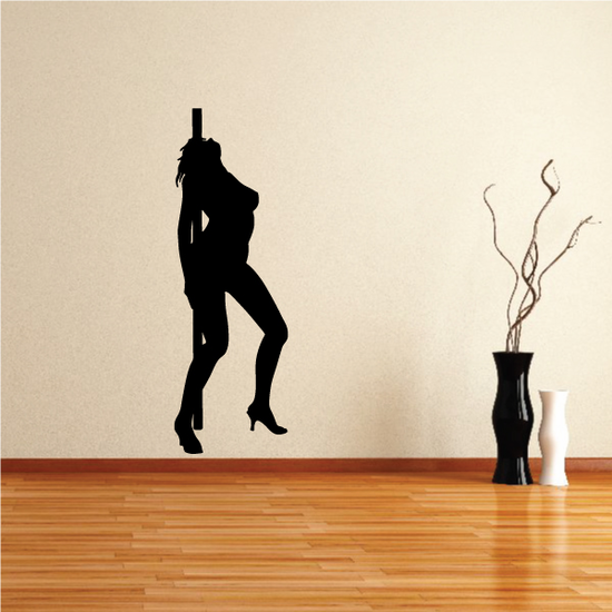 Nude Pole Dancer in Heels with Arched Back Decal