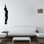 Nude Pole Dancer in Heels Stretching Decal
