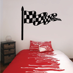 Checkered Flag Wall Decal - Vinyl Decal - Car Decal - CF08030