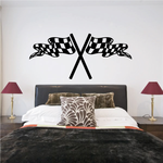 Checkered Flag Wall Decal - Vinyl Decal - Car Decal - CF08032