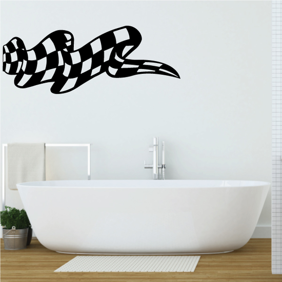 Checkered Flag Wall Decal - Vinyl Decal - Car Decal - CF08034