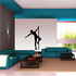 Nude Pole Dancer in Heels Spinning Around Decal