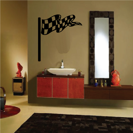 Checkered Flag Wall Decal - Vinyl Decal - Car Decal - CF08036