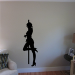 Nude Pole Dancer in Heels Strutting Decal