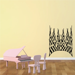 Checkered Flames Wall Decal - Vinyl Decal - Car Decal - CF23005