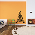 Checkered Flames Wall Decal - Vinyl Decal - Car Decal - CF23007