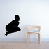 Woman Looking Back Silhouette Decal