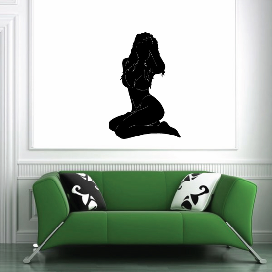 Woman in Bikini Silhouette Decal