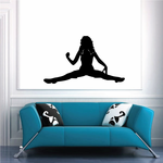Woman Sitting Spread Silhouette Decal