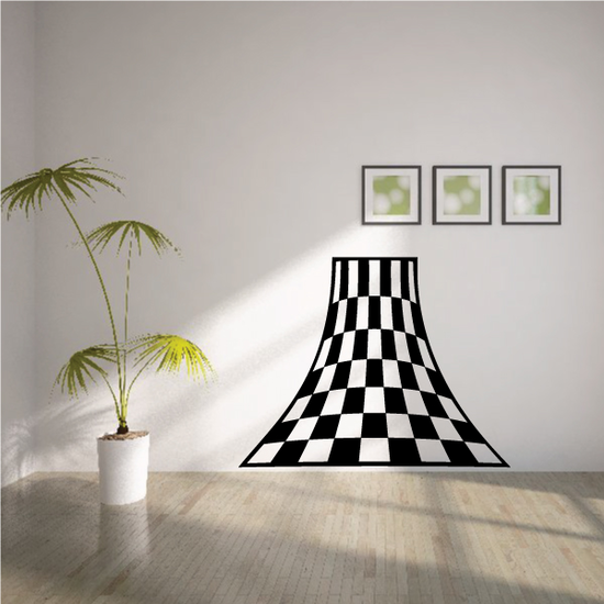 Checkered Pattern Wall Decal - Vinyl Decal - Car Decal - CF8001