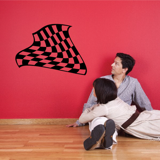 Checkered Pattern Wall Decal - Vinyl Decal - Car Decal - CF8002