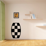 Checkered Pattern Wall Decal - Vinyl Decal - Car Decal - CF8011