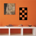Checkered Pattern Wall Decal - Vinyl Decal - Car Decal - CF8013