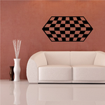 Checkered Pattern Wall Decal - Vinyl Decal - Car Decal - CF8015