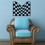 Checkered Pattern Wall Decal - Vinyl Decal - Car Decal - CF8018