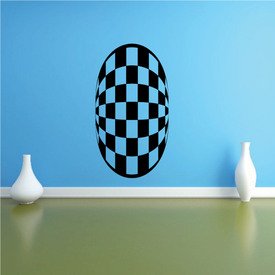 Checkered Pattern Wall Decal - Vinyl Decal - Car Decal - CF8020