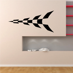 Checkered Pattern Wall Decal - Vinyl Decal - Car Decal - CF8022