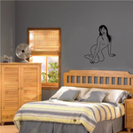 Nude Woman Getting Up Decal