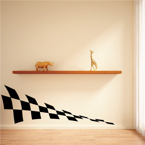 Checkered Pattern Wall Decal - Vinyl Decal - Car Decal - CF8025