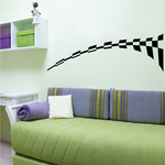 Checkered Pattern Wall Decal - Vinyl Decal - Car Decal - CF8026