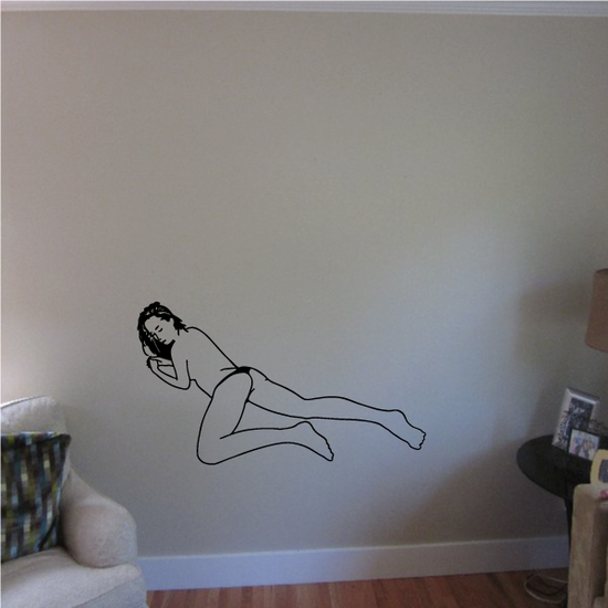 Topless Woman Laying Down Decal