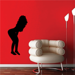 Leaning In Woman Silhouette Decal