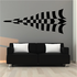 Checkered Pattern Wall Decal - Vinyl Decal - Car Decal - CF8028